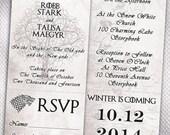 100 Custom Wedding Invitations