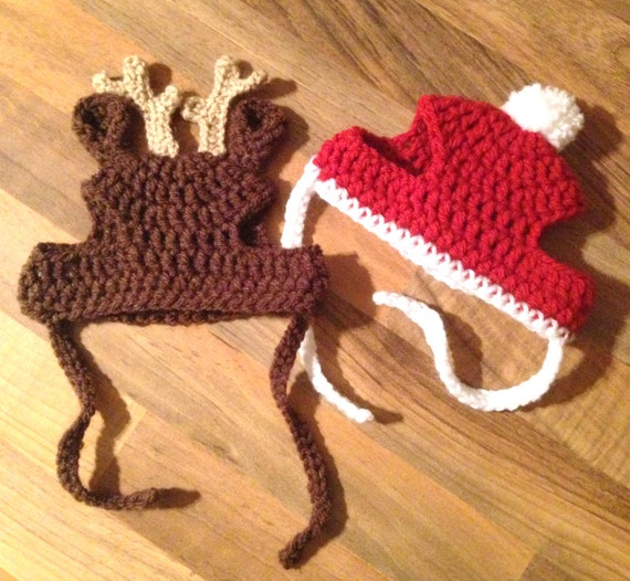 Free Crochet Dog Reindeer Hat Pattern : Crochet Pattern PDF Download // Cat or Small Dog Christmas