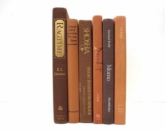 Shabby Elegant / Earthy Vintage Books/ Book Decor/Decorative Books/Book Bundle /Instant Library / Wedding Decor / Home Decorating/Photo Prop