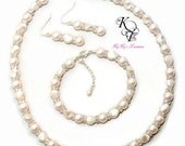Pearl Bridal Jewelry Set, Pearl Jewelry Set, Wedding Jewelry Set, Wedding Jewelry Set, Pearl Bridal Jewelry, Bridal Shower Gift, Wedding