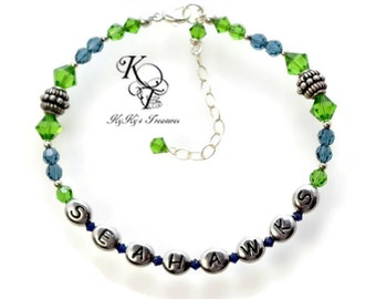 seahawks jewelry seahawks jewelry etsy 1667