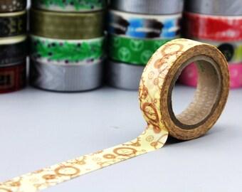 Washi Tape - Japanese Washi Tape - Masking Tape - Deco Tape - WT1012