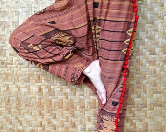 Cotton Pant with Thai Hill tribe style