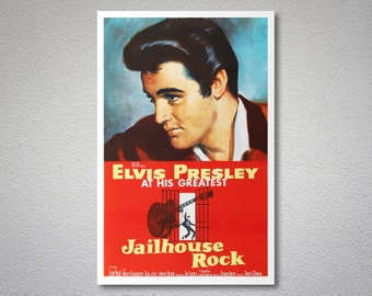 Jailhouse Rock, Elvis Presley Movie Poster - Poster Paper, Sticker or Canvas Print