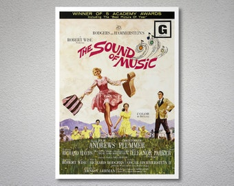 The Sound of Music Movie Poster - Julie Andrews, Christopher Plummer - Poster Paper, Sticker or Canvas Print