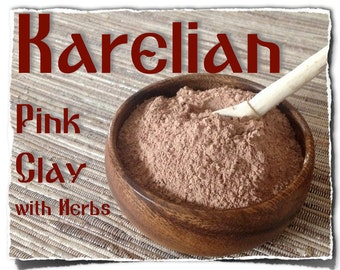Karelian Pink  Clay (with Herbs)  - 1 package (150g/5.3oz).