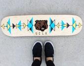 Custom Team Mascot Skateboard Painting - School University Spirit College Sports