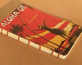 Aloha Oe Postcard Journal