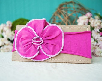 Ema Jane - Shabby Chic Headband (Fuchsia Rosette on Fuchsia)
