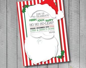 Custom Santa's Beard Invite