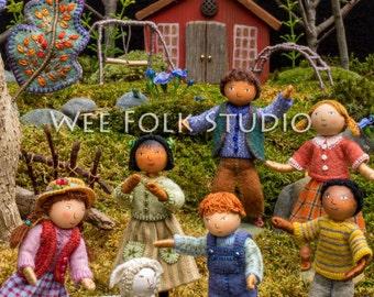 4 card set - Mary Had a Little Lamb - Wee Folk