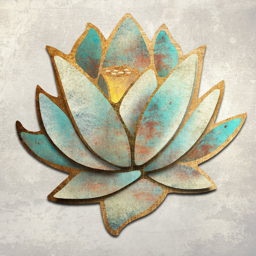 The Lotus Metal Wall Art Sculpture 28 inches by 28 by ...