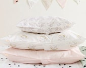 Unicorn Organic Toddler Pillowcase - Unicorn with Rainbow Premium Organic Cotton Sateen Pillow Case for Toddler or Travel