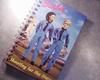 Journal BARBIE SPACE SHUTTLE Vintage Book Notebook Recycled