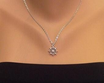 Sailer Charm Necklace, Sailor Necklace, Charm Accessory,Birthday Gift, Silver Necklace, Sea Necklace, Captan Necklace, Christmas Sale