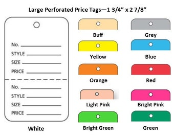 500 - Large Price Tags - Perforated Inventory Tag