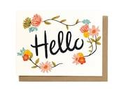 Hello Floral Card - Singles & Box Set