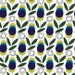 Atomic Garden, Studio E, Flowers on White, Purple and Blue, Citrine and Gray - Cotton Quilting Fabric, Material - Fat Quarter, By The Yard