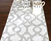 TABLE RUNNER  Wedding Shower Gray  Holiday Table Runners Geometric Table Cloth French Grey baby shower home and Living 48 60 72 84 96