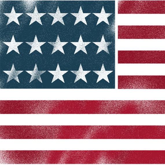 American Flag Star Stencil American Flag Stencil