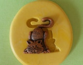 Cat Mold - Flexible Silicone Mold - Sitting -Resin - Polymer clay - FOOD Safe - Fondant - Chocolate - Candy - Sugar  C188M