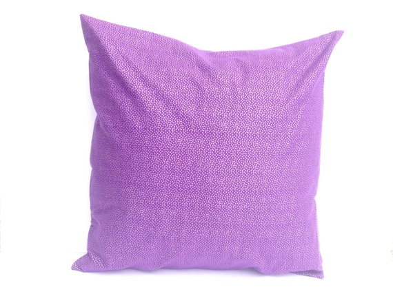 Decorative pillow cover Cotton Royal purple with gold