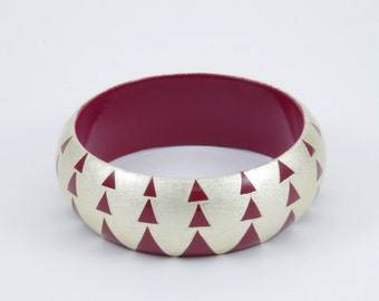 bracelet AGUAYO Burgundy and Silver
