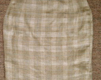 Vintage MULBERRY Linen Pencil Skirt