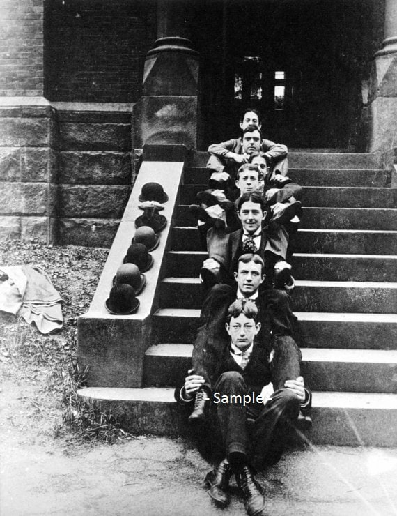 providence ri brown students with bowler hats 1890