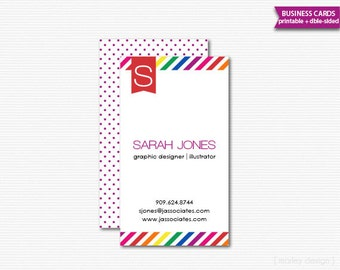 Business Cards Printable Calling Cards Mommy Cards DIY Digital File PDF Stationery Product Tags