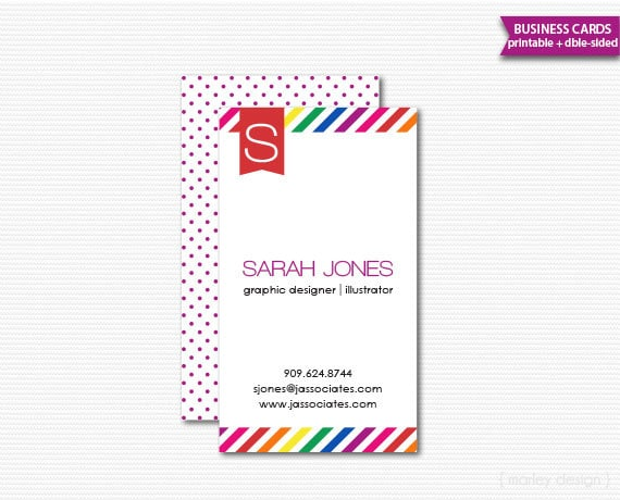 Business cards printable calling cards mommy cards diy digital file il570xn reheart Choice Image