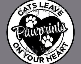 CAT pawprints decal