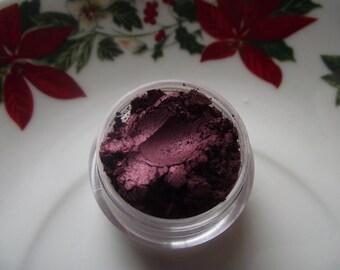 Cranberry Sauce - Dark Cranberry Red Metallic Shimmer Eyeshadow Organic Vegan - Holiday Season Gift Giving