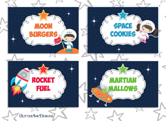 Space Rocket Party Pdf Printable Outer Space Buffet Table
