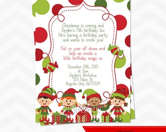 Elf Christmas Party Invitation