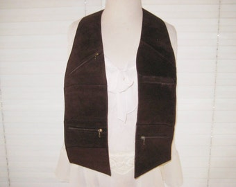 Italian leather money belt, over the shoulder money vest, vintage leather money belt