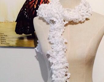 Bright and White Flamenco Scarf
