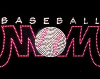 Baseball MOM Rhinestone Transfer (Clearance)