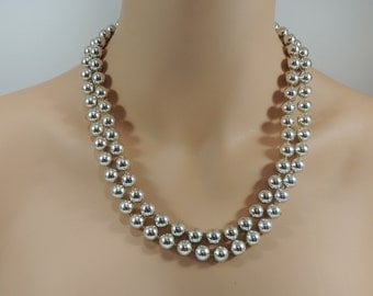 Vintage Silver 2 Strand Necklace