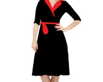 Swing 1950s Retro Inspired Made To Measure Bridesmaid Prom Party Mad Men Dress