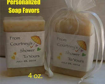 Baby Shower Favor - Party Favors - Personalized Party Favor - Baby Shower Favors - Soap Favors- Handmade Soap Favor- 4 oz.