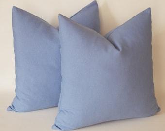 Set of 2 / Violet Blue Pillow, Decorative Throw Pillows, 18''x18'' (45 cm x 45 cm) Decorative Pillow Cover