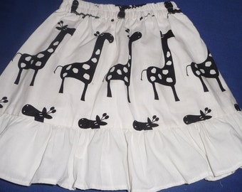 Toddlers Giraffe Skirt with Ruffle