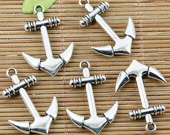 12pcs Tibetan silver nice anchor charm pendants EF1334