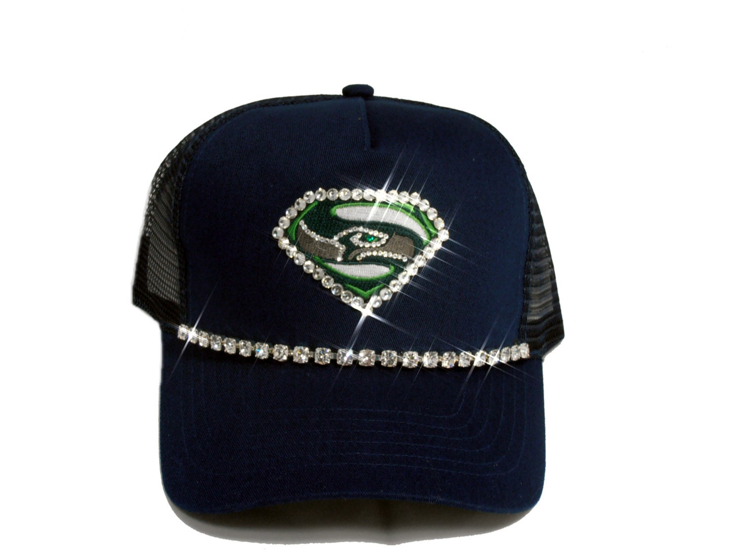 seattle seahawks womens bling trucker hat ready by