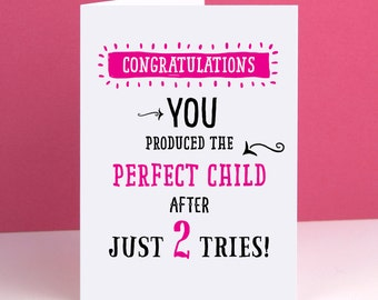 Mum Perfect Child Card  Mothers Day Card / Mum Birthday Card / Mom Birthday Card / Birthday Cards for Her
