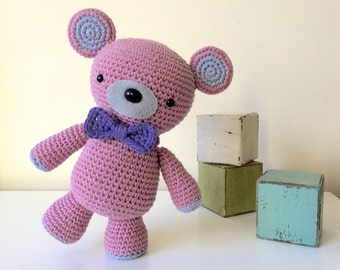 Pinkie Bear: A Crochet bear PDF Pattern
