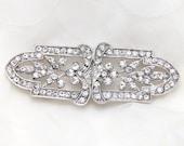 Rhinestone buckle,Crystal clasp, Crystal closure,Crystal button,Vintage button,Leaf clasp,sash clasp closure,Bride bridesmaids dress clasp