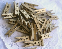 50 GOLD Mini Clothespins, and 10 COLOR Choices
