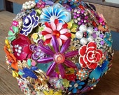 Brooch Bouquet Bright Colorful Floral Brooch Bouquet
